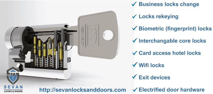 Seattle business lock change services.