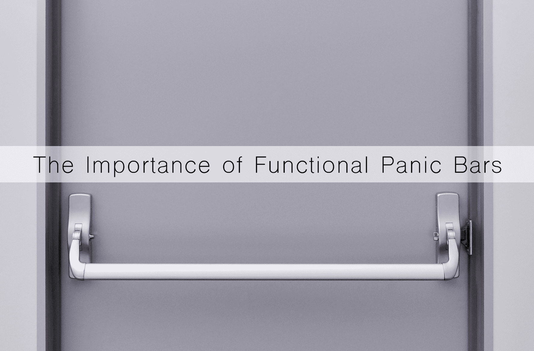 Functional panic bars with Sevan Locks & Doors