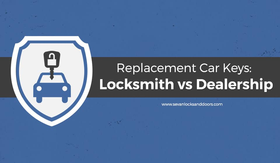 Replacement Car Keys- Locksmith vs Dealership