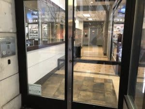 Commercial door security astragal.