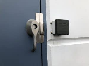 Commercial lever guard.