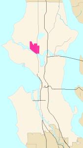 Seattle Map of Freemont, WA